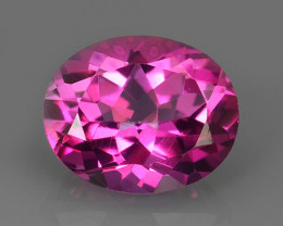 3.90 CTS SUPERIOR! TOP OVAL CUT HOT PINK-TOPAZ GENUINE NR!!