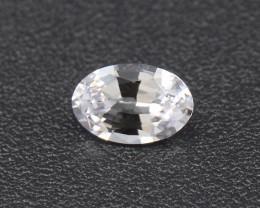 Ceylon White Sapphire 6x4 mm 0.52 Ct. (01669)