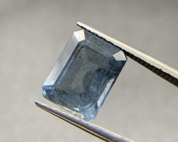 8.16 ct Natural Tourmaline Octagon Blue loose gemstone