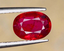 GIL Certified 1.56 ct Vivid Red *Pigeon Blood* Color Natural Ruby Oval Cut