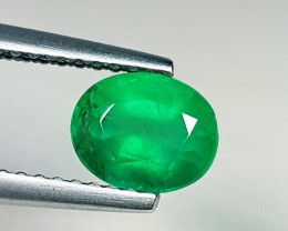 1.10 ct AAA Grade Gem Excellent Oval Cut Natural Emerald