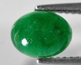 1. 29 Cts Very Rare Vivid Green Color Natural Zambian Emerald  Cabochons