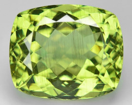 17.01 Cts Un Heated  Natural Green Apatite Loose Gemstone