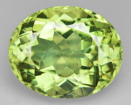 6.45 Cts Un Heated Natural Green Apatite Loose Gemstone