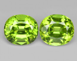 2.63 Cts 2pcs Pair 6x4 mm Green Color Natural BURMA Peridot Gemstone