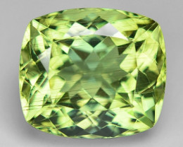 8.13 Cts Un Heated Natural Green Apatite Loose Gemstone