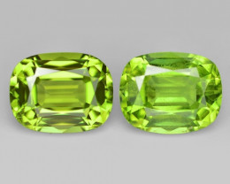 3.20 Cts 2pcs Pair  7x6 mm Green Color Natural BURMA Peridot Gemstone