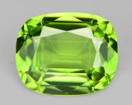 2.12 Cts  Amazing Rare Green Color Natural BURMA Peridot Gemstone