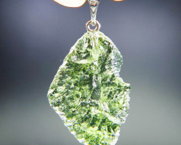 Moldavite Pendant - Very Glossy - RARE - quality A+ with CERTIFICATE