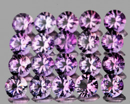 4.00 mm Round 20 pcs 4.30cts Pinkish Purple Amethyst [VVS]