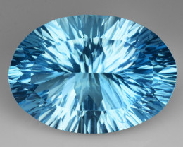 17.94 CT BLUE TOPAZ AWESOME COLOR AND CUT GEMSTONE TP4