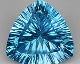 17.33 CT BLUE TOPAZ AWESOME COLOR AND CUT GEMSTONE TP8