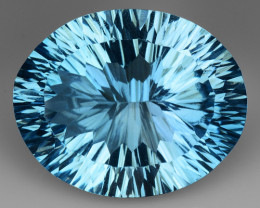 18.27 CT BLUE TOPAZ AWESOME COLOR AND CUT GEMSTONE TP9