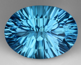 16.90 CT BLUE TOPAZ AWESOME COLOR AND CUT GEMSTONE TP13