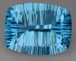 16.09 CT BLUE TOPAZ AWESOME COLOR AND CUT GEMSTONE TP14