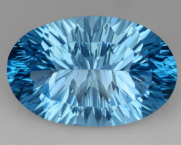 17.13 CT BLUE TOPAZ AWESOME COLOR AND CUT GEMSTONE TP15