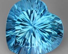 18.66 CT BLUE TOPAZ AWESOME COLOR AND CUT GEMSTONE TP19