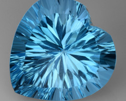 17.63 CT BLUE TOPAZ AWESOME COLOR AND CUT GEMSTONE TP20