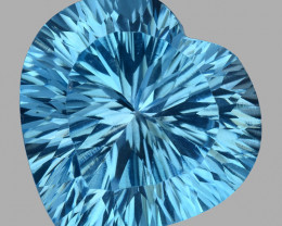 14.62 CT BLUE TOPAZ AWESOME COLOR AND CUT GEMSTONE TP24
