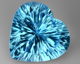 16.52 CT BLUE TOPAZ AWESOME COLOR AND CUT GEMSTONE TP25