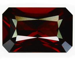 Stunning 3.17Cts Natural Sparkling Red Rhodolite Garnet Octagon Cut Mozamb