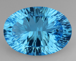 14.19 CT BLUE TOPAZ AWESOME COLOR AND CUT GEMSTONE TP31