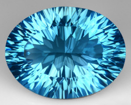 15.45 CT BLUE TOPAZ AWESOME COLOR AND CUT GEMSTONE TP35