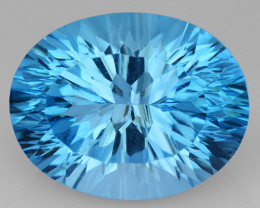 14.42 CT BLUE TOPAZ AWESOME COLOR AND CUT GEMSTONE TP36