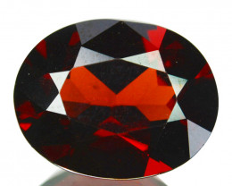 Awesome 3.82Cts Natural Sparkling Red Rhodolite Garnet Oval Cut Mozamb