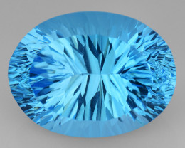 13.93 CT BLUE TOPAZ AWESOME COLOR AND CUT GEMSTONE TP38