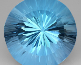12.06 CT BLUE TOPAZ AWESOME COLOR AND CUT GEMSTONE TP39