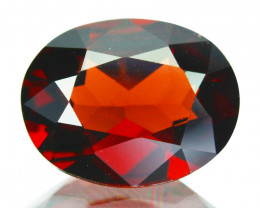 3.75Cts Natural Sparkling Red Rhodolite Garnet Cushion Cut Mozamb
