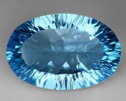 12.10 CT BLUE TOPAZ AWESOME COLOR AND CUT GEMSTONE TP42
