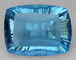 11.16 CT BLUE TOPAZ AWESOME COLOR AND CUT GEMSTONE TP43