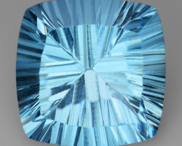 11.57 CT BLUE TOPAZ AWESOME COLOR AND CUT GEMSTONE TP46