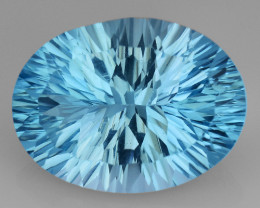 10.50 CT BLUE TOPAZ AWESOME COLOR AND CUT GEMSTONE TP50