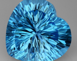 12.04 CT BLUE TOPAZ AWESOME COLOR AND CUT GEMSTONE TP53