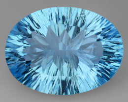 8.90 CT BLUE TOPAZ AWESOME COLOR AND CUT GEMSTONE TP54