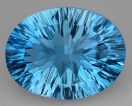 8.61 CT BLUE TOPAZ AWESOME COLOR AND CUT GEMSTONE TP56