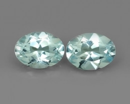 2.20 Cts - Sparkling Luster -Oval~Cut- Natural Blue Aquamarine !!