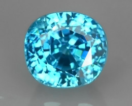 1.80 CtS AWESOME SPARKLE NATURAL NR..BEST OVAL TOP BLUE ZIRCON!!