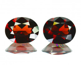 6.37 Cts Natural Red Rhodolite Garnet 10x8mm Oval Mozambique