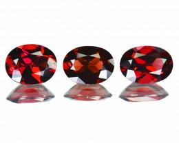 9.59Cts Natural Pinkish Red Rhodolite Garnet 10x7mm Oval Mozambique