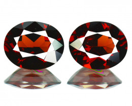 6.46Cts Natural Pinkish Red Rhodolite Garnet 10x8mm Oval Mozambique