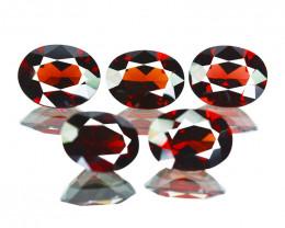 13.55Cts Natural Pinkish Red Rhodolite Garnet 9x7mm Oval Mozambique