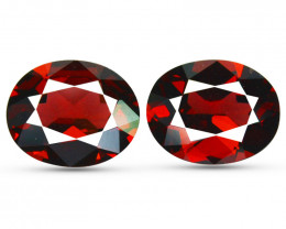 6.91 Cts Natural Pinkish Red Rhodolite Garnet 10x8mm Oval Mozambique