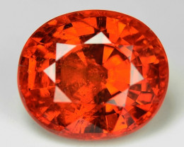 3.46 Cts Natural Orange - Red Spessartite Garnet Loose Gemstone