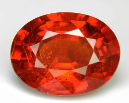 2.77 Cts Natural Orange - Red Spessartite Garnet Loose Gemstone