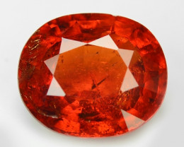 2.49 Cts Natural Orange - Red Spessartite Garnet Loose Gemstone