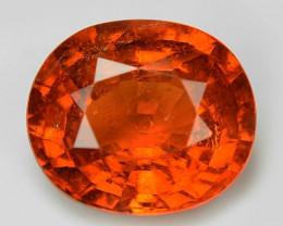2.06 Cts Natural Orange - Red Spessartite Garnet Loose Gemstone